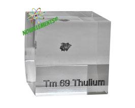 Thulium metal 99.99% acrylic cube