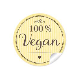 """""""100% Vegan"""" - gelb"""