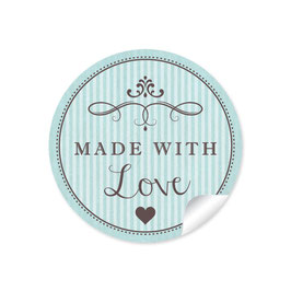"""Made with Love""- Vintage Retro Style - mint"