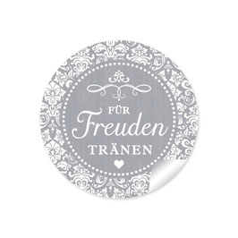 """""""Für Freudentränen"""" - Vintage Ornamente - grau"""