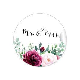 """MR. and MRS. - Rosen rosa Rot weiß grün"