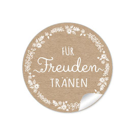 """""""Für Freudentränen"""" - Blütenranke weiß - natur"""