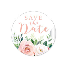 """Save the Date"" - Eukalyptus Rosen Aprikot Lachs"