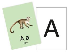 1 Postkarten Ergänzungskarten zum ABC Karten Set