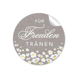 """""""Für Freudentränen"""" - Blumen weiß - sand"""