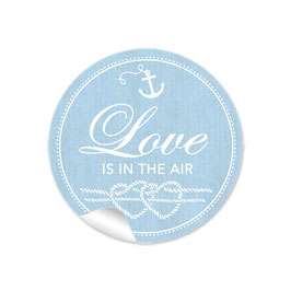"""Love ist in the Air"" - Maritim Anker Knoten Herz blau"