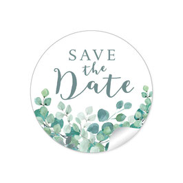 """Save the Date"" - Eukalyptus"