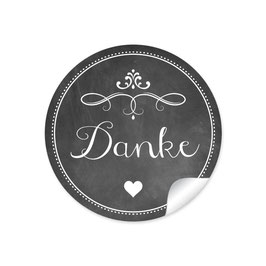 """""""Danke"""" - Ornamente - Kreidetafel schwarz"""