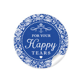"""For your happy tears"" - Vintage Ornamente - dunkel  blau"
