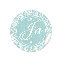 """Ja"" - Shabby Chic Style - mint"