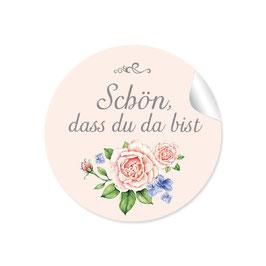 """""""Schön, dass du da bist"""" - Rose  - creme"""