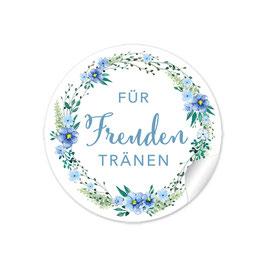 """""""Für Freudentränen"""" - Blumenkranz - blau grün"""