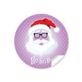 """Ho Ho Ho"" -  Hipster Nikolaus - lila"