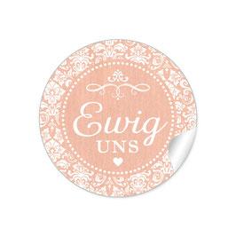 """""""Ewig uns""""- Ornamente - apricot"""