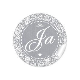 """Ja"" - Shabby Chic Style - grau"