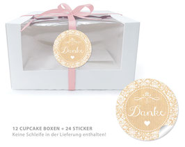 "BIO BOX SET - ""Danke"" Shabby Chic - natur"