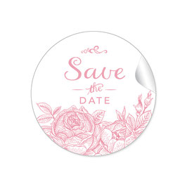 """Save the Date"" - Rosen - rosa"