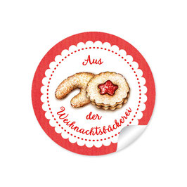 """""""Aus der Weihnachtsbäckerei""""- Gebäck - rot"""