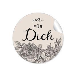"""""""Für Dich"""" - Rosen - beige / schwarz"""