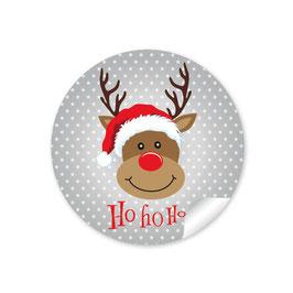 """""""Ho Ho Ho"""" - Rudolph - grau"""