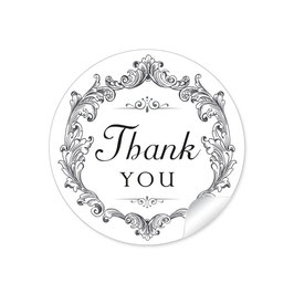 """Thank you"" - Ornamente - weiß / schwarz"