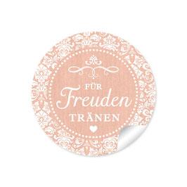 """Für Freudentränen"" - Vintage Ornamente - apricot"