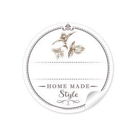 """""""Home Made Style""""- Kräuter - weiß mit Freitextfeld"""