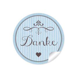 """Danke"" - Ornamente - hellblau"