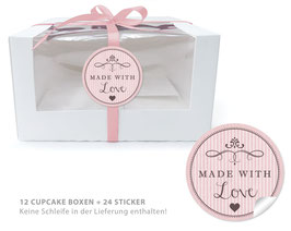 "BIO BOX SET - ""Made with Love"" - rosa"