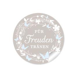 """""""Für Freudentränen"""" - Schmetterlinge - sand / blau"""