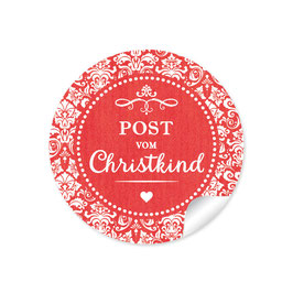 """Post vom Christkind"" -  Retro Vintage - rot"
