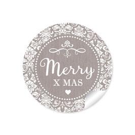 """""""Merry X mas"""" -  Vintage Ornamente - sand"""