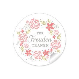 """""""Für Freudentränen"""" - Kranz - rosa / apricot"""