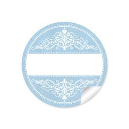 Ornamente -blau - mit Freitextfeld