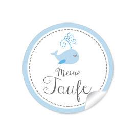 """""""Meine Taufe"""" - Walfisch - blau"""