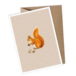 EICHHÖRNCHEN  1 Postkarte + Umschlag
