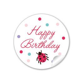 """Happy Birthday"" -  Käfer - rot"