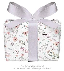 3 Bögen Geschenkpapier groß - Blüten Pastell
