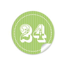 Adventskalenderzahlen - grün
