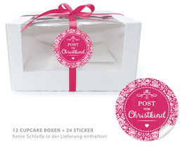 "BIO BOX SET - ""Post vom Christkind"" Vintage - fuchsia rot"