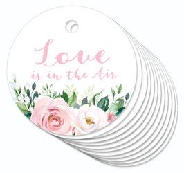 12 ANHÄNGER • Love is in the Air • Boho Rosen rosa weiß