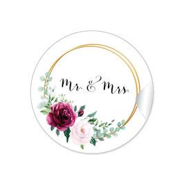 """""""MR. and MRS. - Ringe Rosen rot rosa grün"""