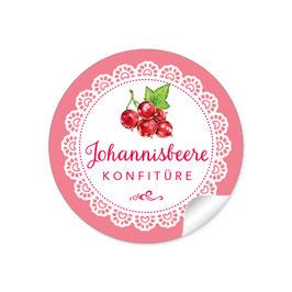 """Johannisbeere Konfitüre""- Spitze - rosa"