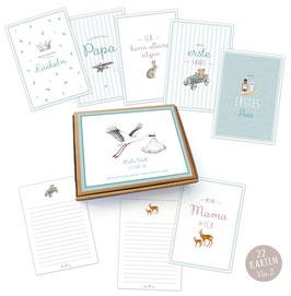 NEU!  22 Baby Meilenstein Karten Geschenkset No.2 • A6 Karten