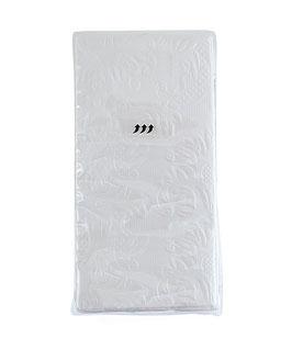 Taschentücher - Ornamente weiß -  10 Stück