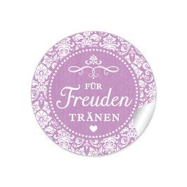 """Für Freudentränen"" - Vintage Ornamente - dunkel  lila"