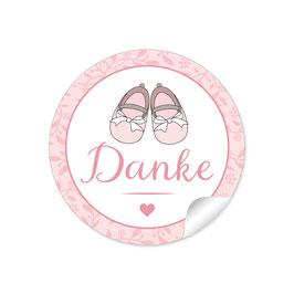 """Danke"" - Babyschühchen - rosa"