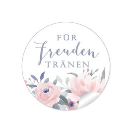 Für Freudentränen - Pastell Rosen Blüten rosa grün blau grau