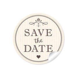 """Save the Date"" - Vintage Ornamente - Creme"