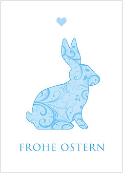 """Frohe Ostern""  - Osterhase - Bunt"